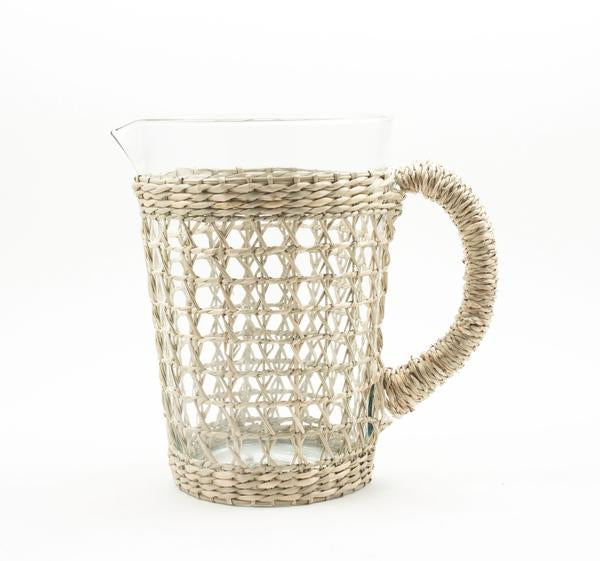 pitcher, water pitcher, drink pitcher, seagrass, seagrass pitcher, unique pitcher