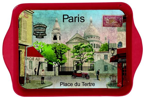 Paris Place Du Tertre Mini Metal Tray