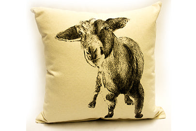 baby goat pillow, goat pillow, baby goat pillow sale, goat pillow sale, Eric & Christopher, hand made pillow, made in the US