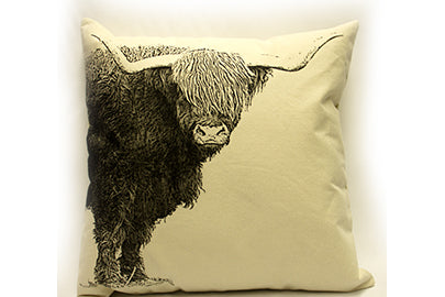 cattle pillow, cattle pillow sale, Eric & Christopher, hand made pillow, pillow sale, made in the US