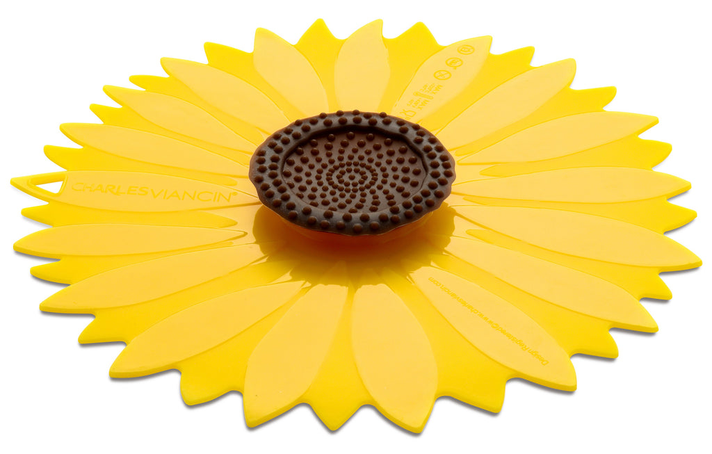Silicon Sunflower 11 in. Bowl  Cover