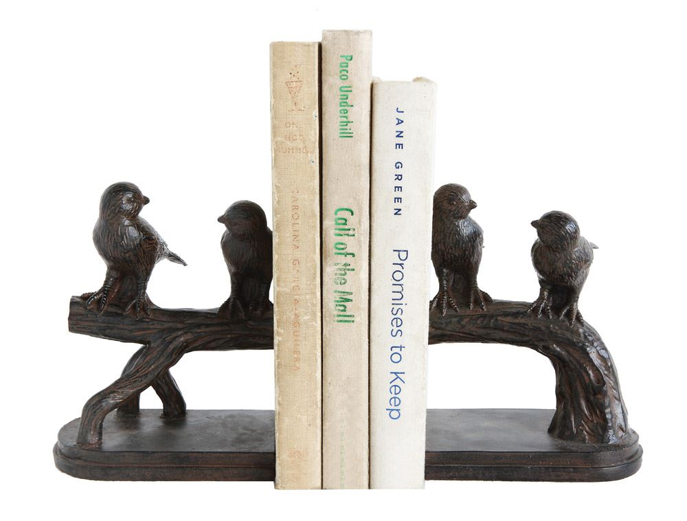 Resin Bird on Branch Bookends