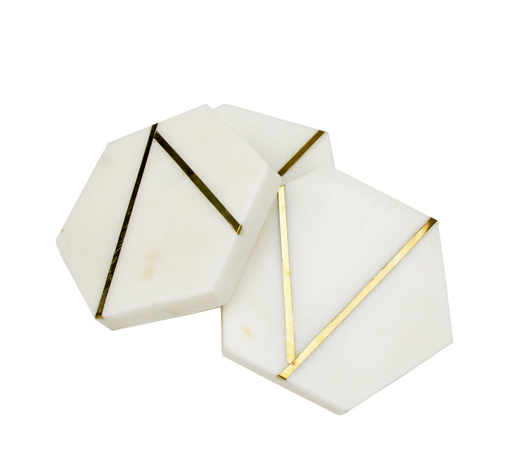 Hexagon Coaster Set/4 (Case of 4)