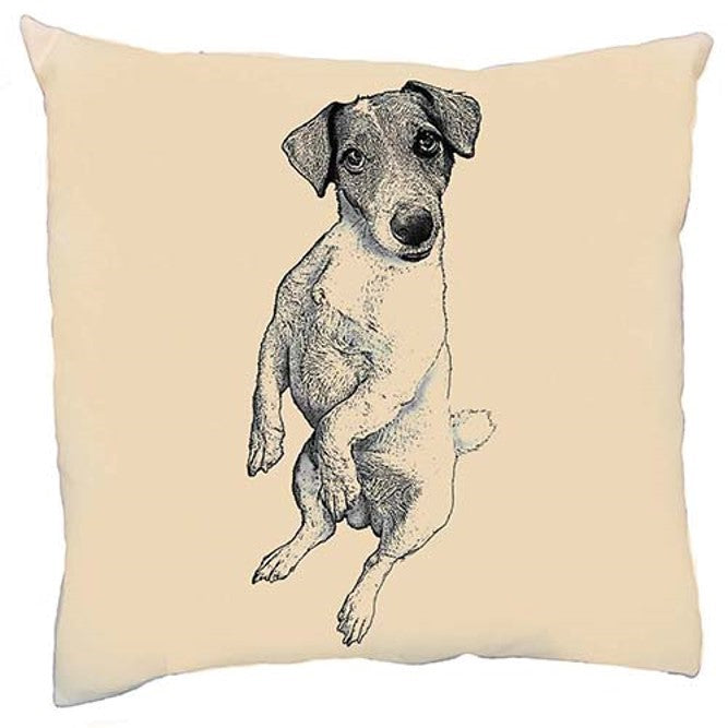 Jack Russell, Jack Russell pillow, Jack Russell pillow sale, Eric & Christopher, made in the US, hand made pillow