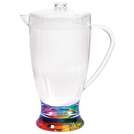 pitcher, acrylic pitcher, rainbow pitcher, rainbow, fun pitcher, unique pitcher, acrylic glassware