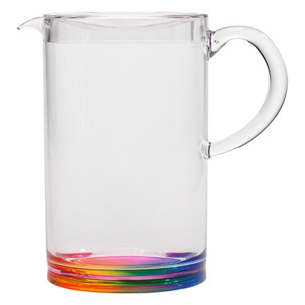 pitcher, rainbow pitcher, fun pitcher, unique pitcher, acrylic, acrylic pitcher