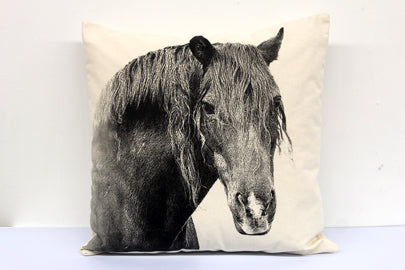 horse pillow, horse pillow sale, farm animal, farm animal pillow, Eric & Christopher, hand made pillow, made in the US
