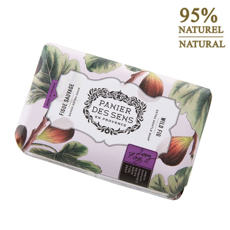 Panier de sens, French soap, Panier de Sens,  bar of soap, soap bar, cotton flower soap, cotton flower, cotton flower bar of soap, gift, great gift, great gift idea, fig soap, wild fig soap, wild fig bar of soap, fig bar of soap