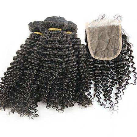 3 Curly Bundles & 1 Single Part Closure Curly