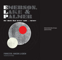 Emerson, Lake & Palmer  limited edition by Forrester, Hanson & Askew, Foruli Classics, ISBN 9781905792504, front cover & flap