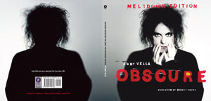 Meltdown Edition of Obscure: Observing The Cure by Andy Vella, Foruli Codex, ISBN 9781905792726, cover spread