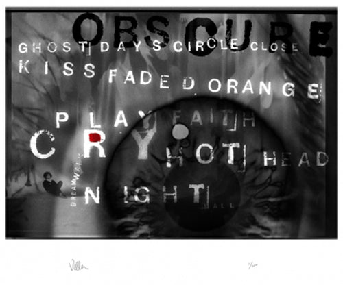 The Cure limited edition art print, Obscured by Andy Vella, Foruli