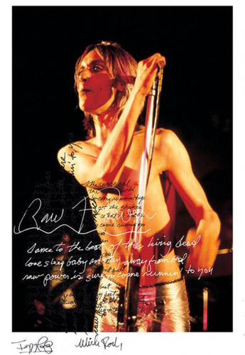 Iggy Pop & Mick Rock Raw Power #2 limited edition signed art print, Foruli