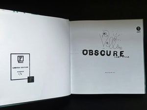 Obscure: Observing The Cure by Andy Vella, Foruli Codex, ISBN 9781905792443, calligraphy edition, number 1 of 4