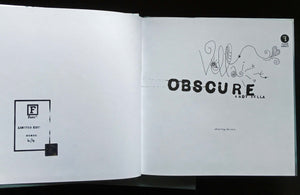 Obscure: Observing The Cure by Andy Vella, Foruli Codex, ISBN 9781905792443, calligraphy edition, number 4 of 4
