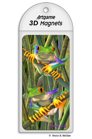 Lenticular Tree Frogs Magnet