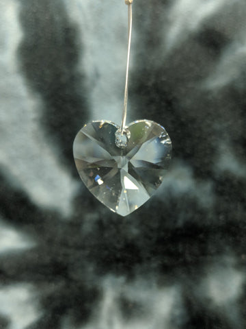 Clear Heart Hanging Crystal