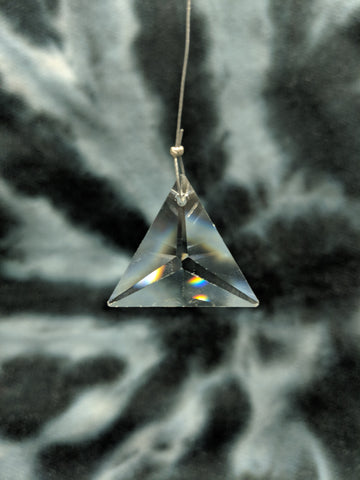 Clear Triangle Hanging Crystal