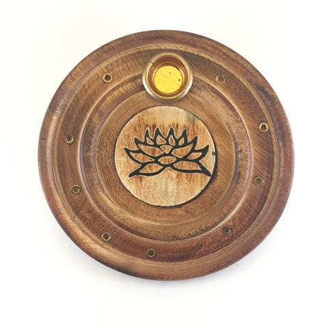 Lotus Wooden Disk Ash Catcher