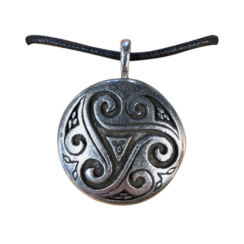 Celtic Visions Pendant - Triskele Shield