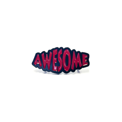 """Awesome"" (Red) Enamel Pin"