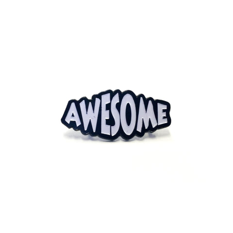 """Awesome"" (White) Enamel Pin"