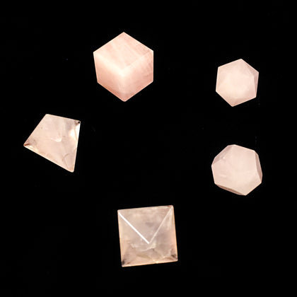 Geometric Stone Set - Rose Quartz