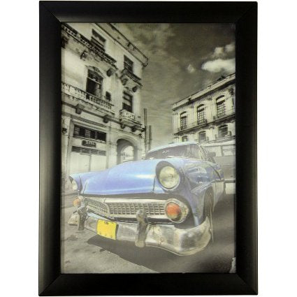 image of iconic 3d 25x35cm cuban car blue