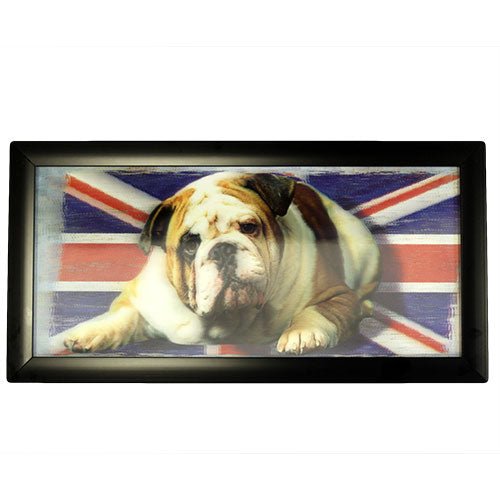 image of iconic 3d 23x50cm british bulldog