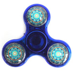 image of metal fidget spinner blue mandala