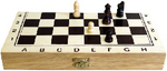 image of 1x small budget chess set 24 cm