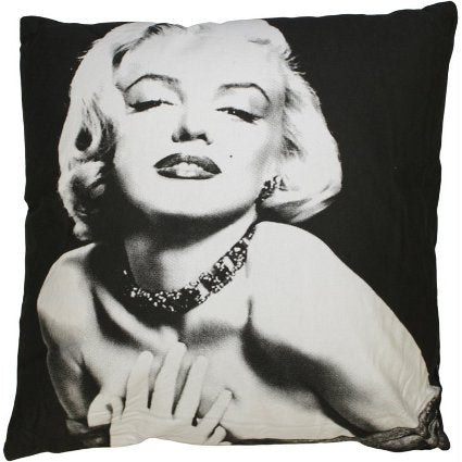image of designer cushion marylin on black