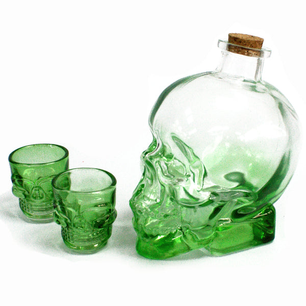 image of demon drink set with a green head