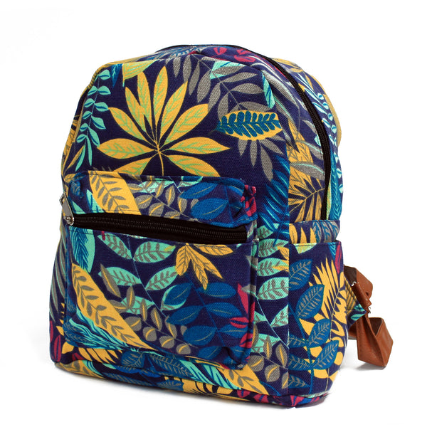 image of jungle bag undersized backpack blue teal