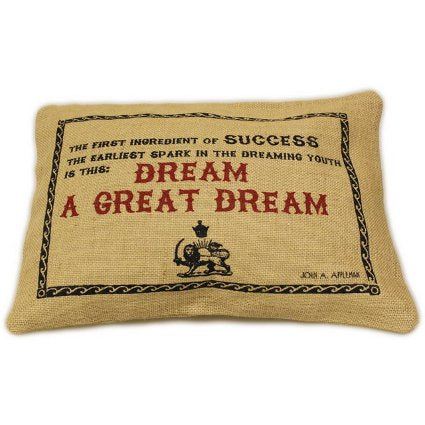image of jute cushion cover great dream