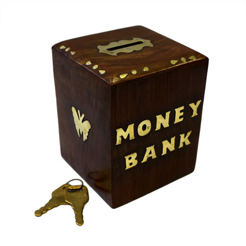 image of money bank box cube