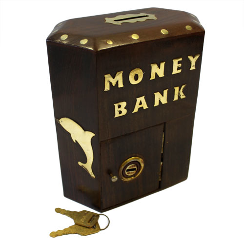 image of money bank box large hex box