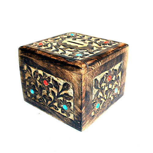 image of money bank box medium d cor box