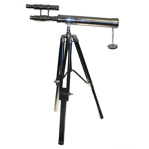 image of grand brass telescope expandable stand