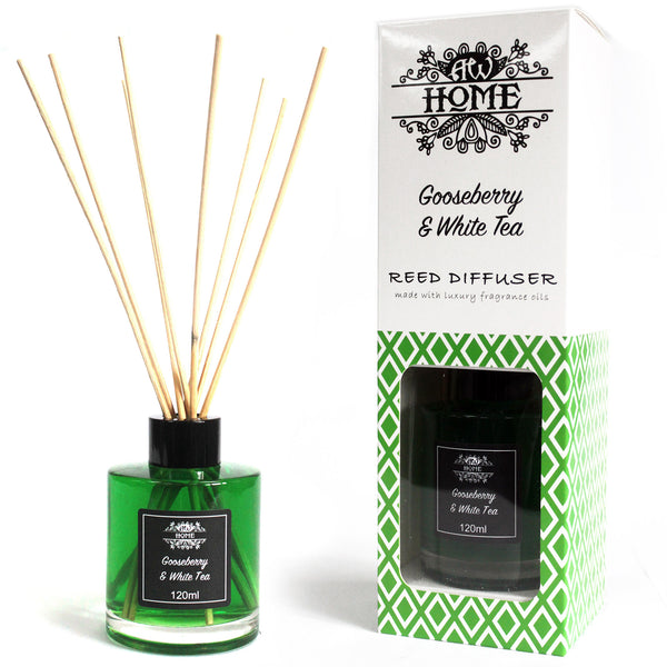 image of 120ml reed diffuser gooseberry white tea