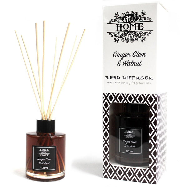 image of 120ml reed diffuser ginger stem walnut