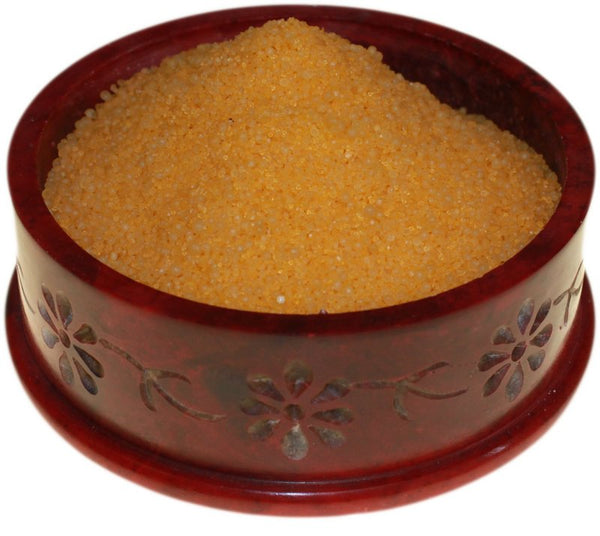 image of lemon musk simmering granules 200g bag yellow
