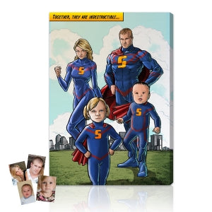 The Comics Factory super family