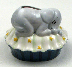 Sleeping Elephant Coin Bank
