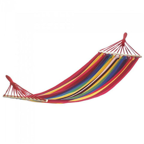 Bahama Red Striped Single Hammock