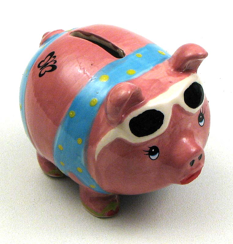 Beachy Piggy Coin Bank