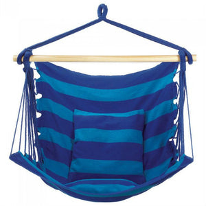 Blue Striped Hammock Chair