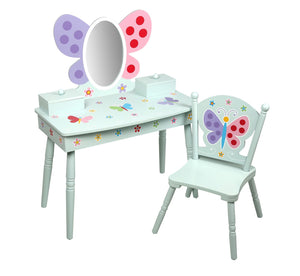 Butterfly Garden Vanity Table and Chair Set
