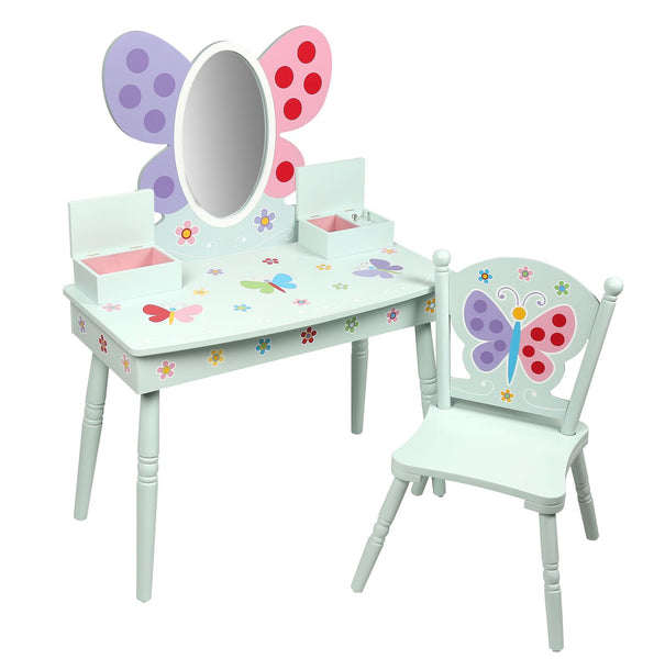Butterfly Garden Girls Vanity Table and Chair Set