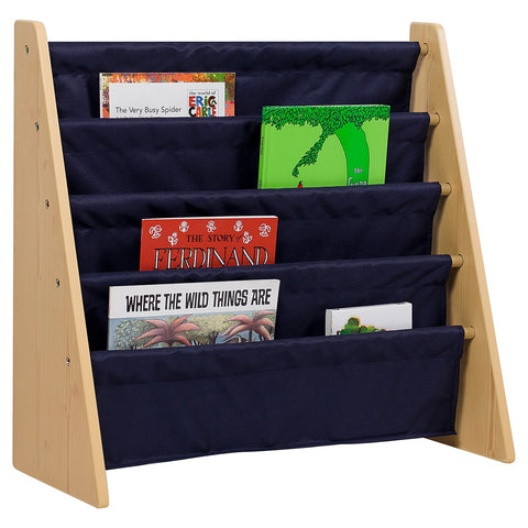 Classic Blue Sling Bookcase - Natural
